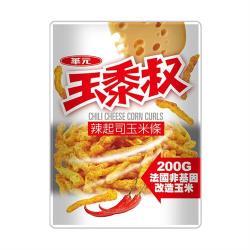 【華元】玉黍叔-辣起司口味200g(夾鏈袋設計-超值包)