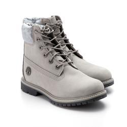 Timberland 女款中灰色天鵝絨鞋領磨砂革6吋靴A231FF49