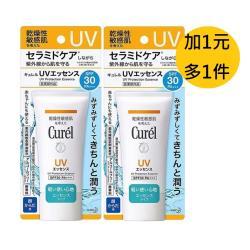 (買一送一)Curel珂潤 潤浸保濕輕透水感防曬乳50g(臉 身體用 SPF30)(原廠公司貨)