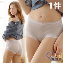 【RIESURE】日本無痕限定-100%天然シルク快適生地 100%全蠶絲無痕中高腰內褲/銀灰 グレー