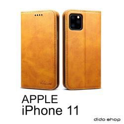 iPhone 11 (6.1吋) 簡約系列 小牛紋可插卡翻蓋手機皮套 (FS183)