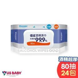 優生酒精濕巾80抽24包-超厚型