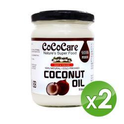 CoCoCare斯里蘭卡 100%冷壓初榨椰子油500mlX2入組
