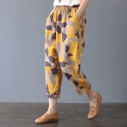 【名模天后】個性幾何造型束口褲-(M~2XL)