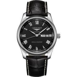 LONGINES 浪琴 Master 巨擘系列羅馬機械錶-黑/40mm L29104517