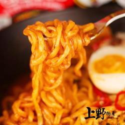【上野物產】韓國人氣 甜辣開胃辣醬炒麵(300g±10%/麵體+醬料/包) x16包