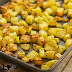 【上野物產】台灣產 無調味可快煮 馬鈴薯丁(1000g土10%/包) x4包
