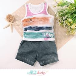 魔法Baby 1~3歲寶寶套裝 男童裝 夏季無袖背心套裝~k51511