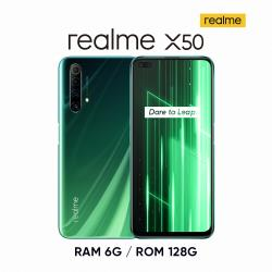 realme X50 S765G (6G+128G) 5G四鏡頭暢速潮玩機-仙蹤綠
