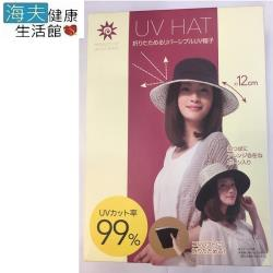 海夫健康生活館 抗UV可折疊雙面寬緣帽 防曬遮陽帽