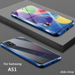 三星 A51 雙面鋼化玻璃磁吸式手機殼 手機保護殼(WK053)