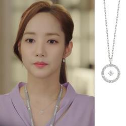 【Emi艾迷】韓劇金秘書同款宇宙點凝緻鑽環繞鋯石鎖骨鍊項鍊
