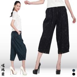 噶瑪蘭個性風雅印花長褲BK8359