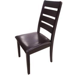 【AT HOME】北歐設計胡桃色實木餐椅/休閒椅/工作椅/洽談椅(羅馬尼亞)