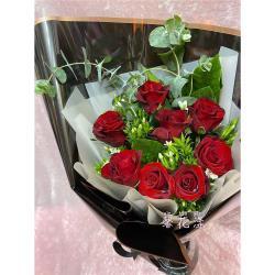【馨花漾】火紅熱情紅玫瑰新鮮花束(情人節/生日/紀念日)