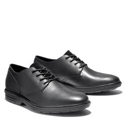 Timberland 男款黑色全粒面皮革牛津鞋A2D32001