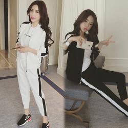 【K.W.韓國】 (預購) 柔美簡約運動兩件套套裝褲