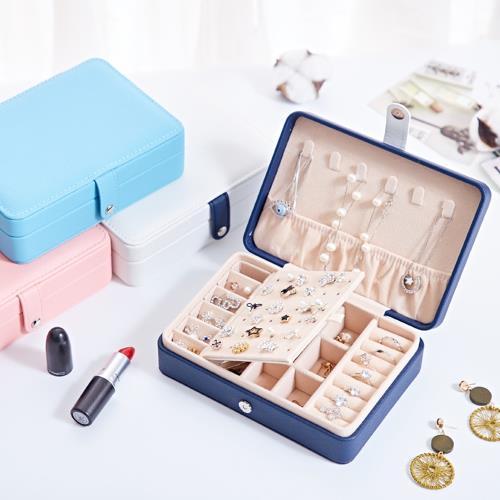 【Emi艾迷】韓國玩夏甜美色系可攜式珠寶盒首飾盒/