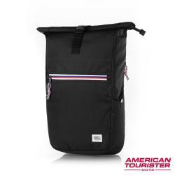 AT美國旅行者 Trent上捲式開口拉鍊筆電後背包15.6(黑)-GS9*09001