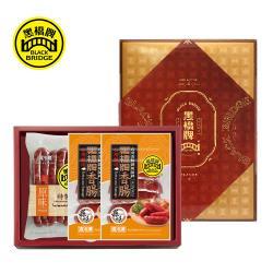 【黑橋牌】經典原蒜香腸禮盒,2入/組