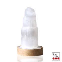 開運方程式-摩洛哥透石膏金字塔贈USB氣氛燈(開啟頂輪靈性提升智慧)