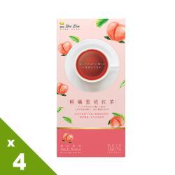 【BeeZin康萃】瑞莎代言輕孅蜜桃紅茶x4盒(12公克/包;7包/盒)