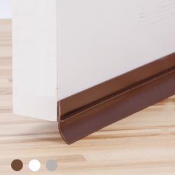 DM130 長130CM 咖啡色 門底氣密條(背膠)軟硬膠 門底縫擋條 門底隔音條 毛刷條 壓條 門縫條 防蟲條 防塵條
