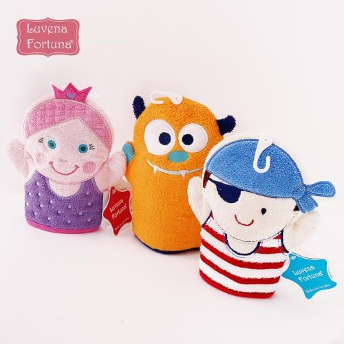英國小木馬luvena fortuna寶寶沐浴手套洗浴卡通可愛手套