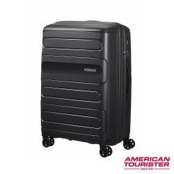 AT美國旅行者 25吋 Sunside超耐磨PP防刮可擴充硬殼TSA行李箱(黑) 51G*09021