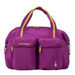 【 Hush Puppies】CHIC 帥勁系列 旅行袋/肩背包/外出包 (紫色)