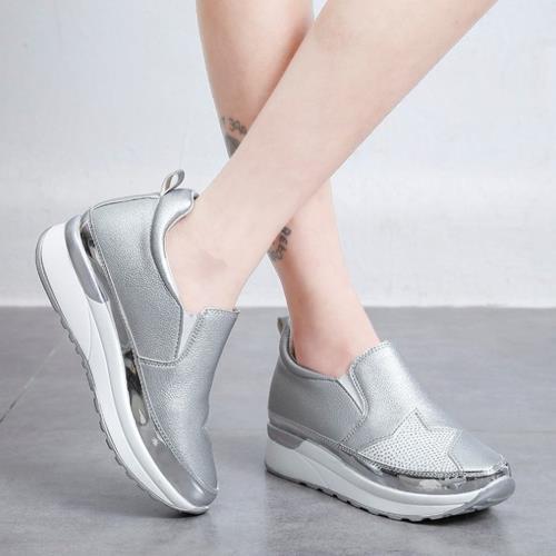 韓版閃亮星星厚底內增高鞋/
