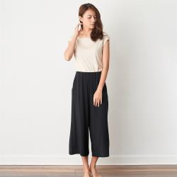 【Tani】奧地利超細櫸木天絲纖維-女寬管休閒褲8993202