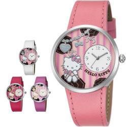 Hello Kitty LK698 浪漫公主凱蒂貓小巧刻度指針皮帶錶