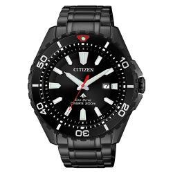 【CITIZEN 星辰】PROMASTER 潛水高級時尚腕錶-黑水鬼44.5mm(BN0195-54E)