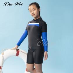 聖手品牌 男女通用中童二件式防曬長袖泳裝 NO.A7220058-05