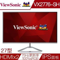 Viewsonic優派 VX2776-SH 27型 IPS面板100%sRGB液晶螢幕