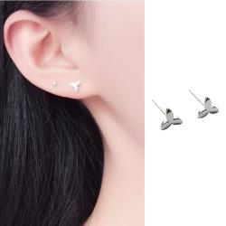 【Emi艾迷】韓國925銀針細膩系列初春嫩芽三葉小草耳環