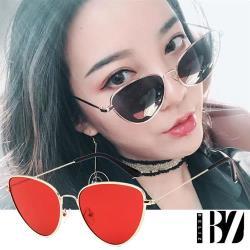 爆殺299元-BeLiz金框貓眼 透視炫色時尚墨鏡 金框紅