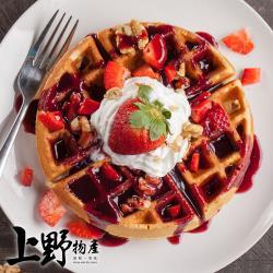 【上野物產】餐廳用 即食厚鬆餅(1500g) x 3包 共15片