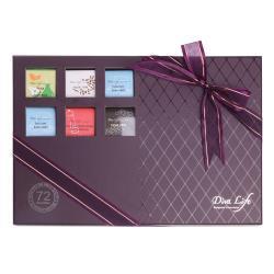 Diva Life 比利時巧克力片72入 (大方紫禮盒)-88%