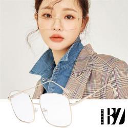 爆殺299元-BeLiz韓版大方框 細框金屬平光眼鏡 金