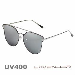 Lavender 偏光片太陽眼鏡 個性雙槓 水銀黑框 8104 C5