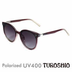 Turoshio 偏光太陽眼鏡 韓版時尚圓框 朱雀紅 19001 C3 贈鏡盒、拭鏡袋、多功能螺絲起子、偏光測試片
