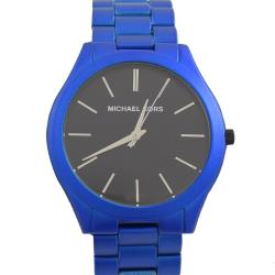 MICHAEL KORS MK8760 Slim Runway 不鏽鋼大框腕錶.藍