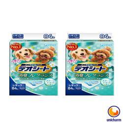 日本 Unicharm嬌聯 消臭大師 小型犬狗尿墊-森林香-M 84片(44*32cm) X 2包