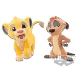 Banpresto Fluffy Puffy 獅子王  辛巴 狐獴丁滿
