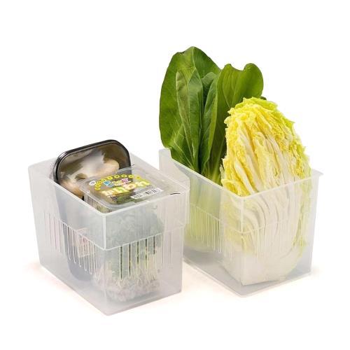 日本製造INOMATA冰箱冷藏-大方型收納籃3入裝