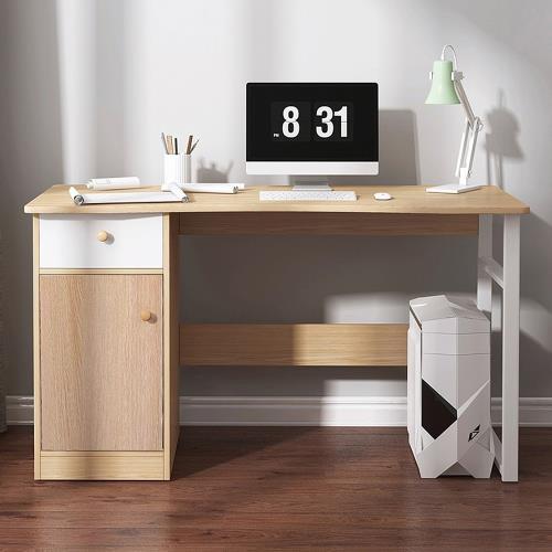 [生活藏室]流線型工作桌-一門一抽款(工作桌/電腦桌/書桌/辦公桌)/