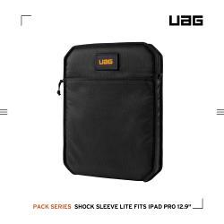 UAG iPad Pro 12.9吋(2020)耐衝擊保護套Lite-黑