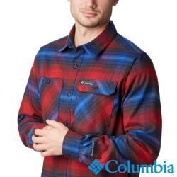 Columbia 哥倫比亞 男款-防曬50快排襯衫-暗紅  UAE02130WE